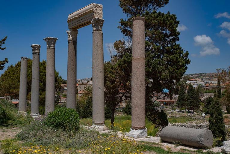 LB_190508 Libanon_0205 Bybloksen arkeologisen alueen roomalaiset