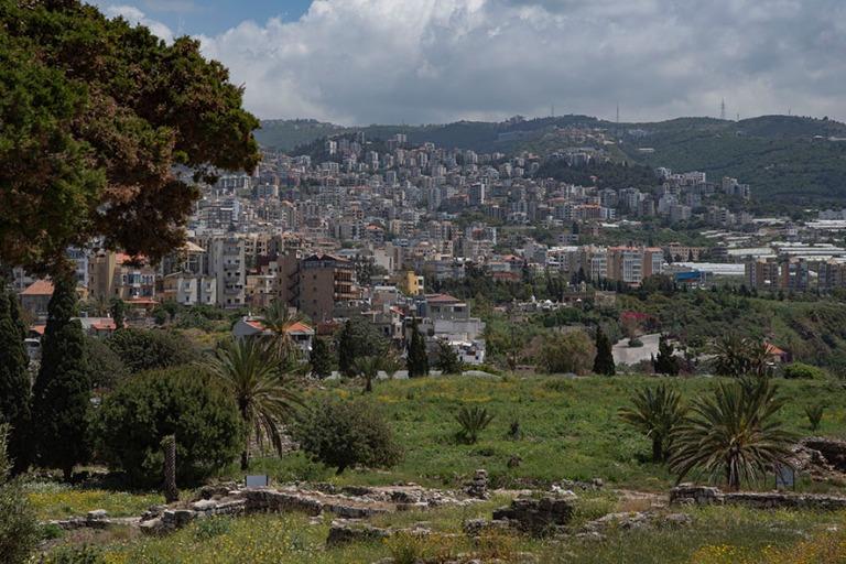 LB_190508 Libanon_0213 Bybloksen panoraamaa arkeologiselta aluee