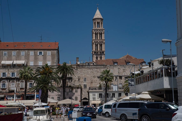 HR_190630 Kroatia_0120 Splitin Diocletianuksen palatsin Pronssip