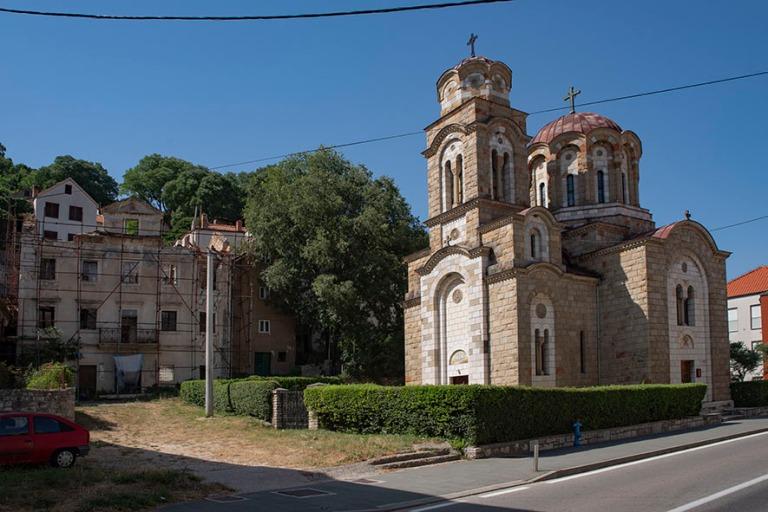 HR_190701 Kroatia_0148 Kninin serbianortodoksinen kirkko vuodelt