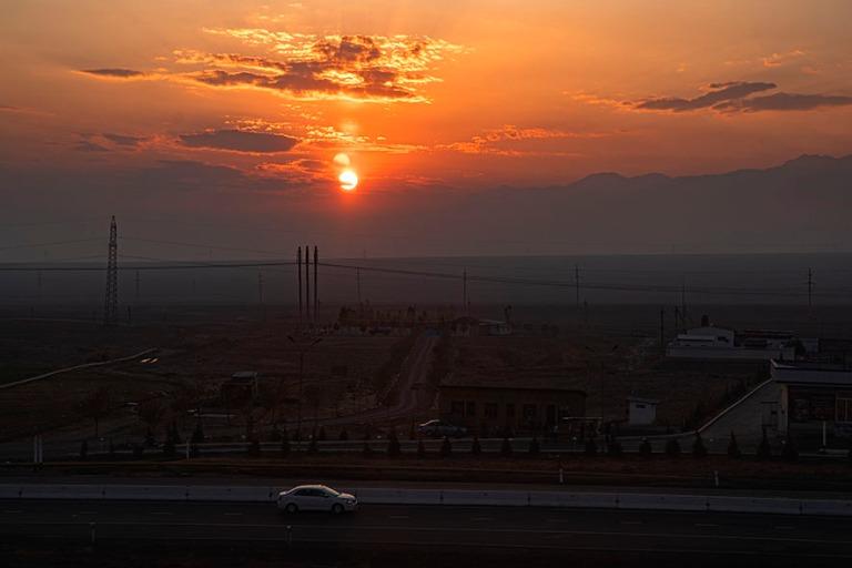 UZ_191103 Uzbekistan_0482 Auringonlasku Ferganan laaksossa