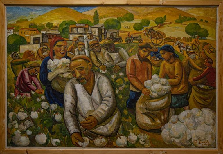 UZ_191105 Uzbekistan_0048 AN Volkovin Puuvillan poimintaa Nukusi
