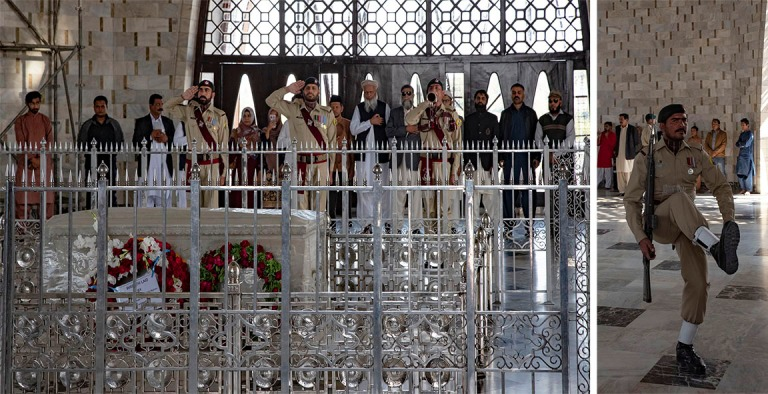 PK_200123 Pakistan_0305 Vahdinvaihto Jinnahin mausoleumilla Kara