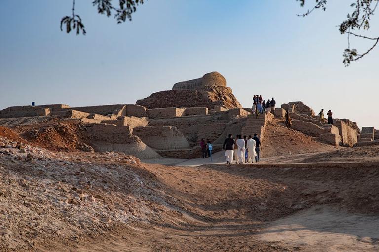 PK_200125 Pakistan_0305 Moenjo Daron yläkaupungin raunioita bud