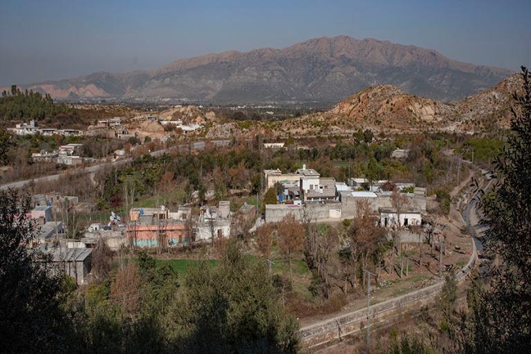 PK_200201 Pakistan_0175 Panoraamaa Jaulianin alueelta Taksilassa