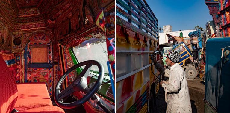 PK_200201 Pakistan_0304 Kuorma-autojen koristemaalaamo Islamabad