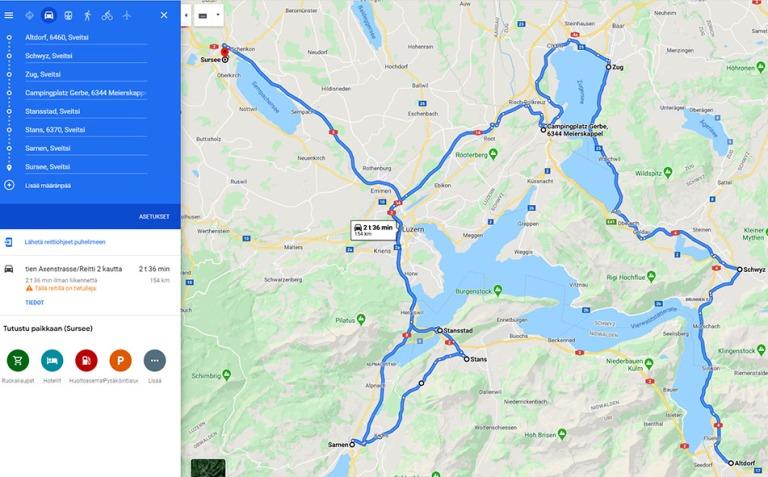 Altdorf-Sursee-reitti