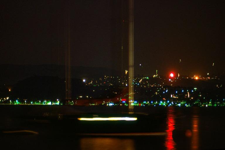 CH017834 Sveitsi Kansallispäivän ilotukitus Zürichinjärvell