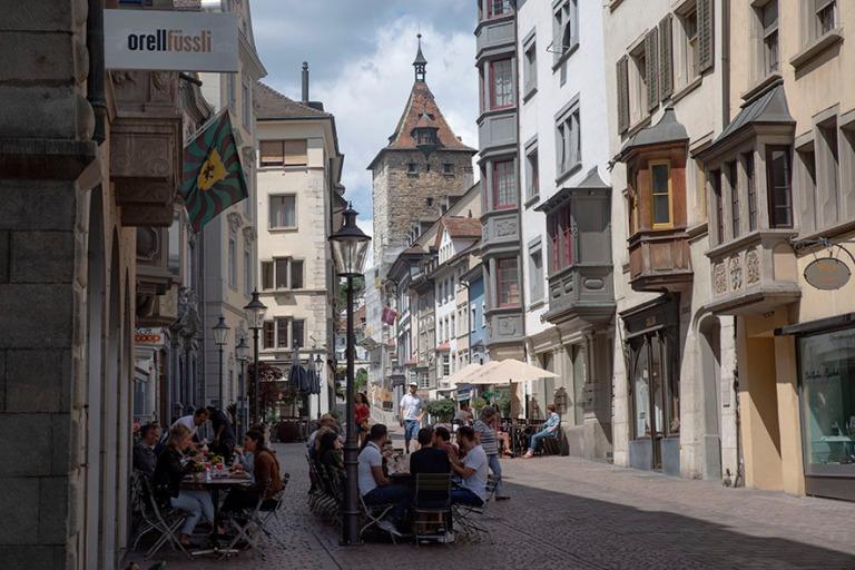 CH_190714 Sveitsi_0132 Schaffhausenin kaupungin Vordergasse Ober