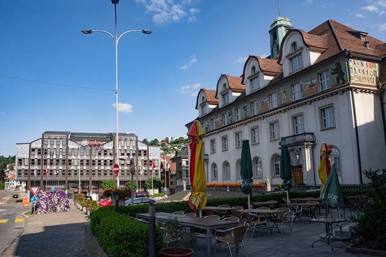 CH_190714 Sveitsi_0292 Herisaun Obstmarkt Appenzell Ausserrhoden