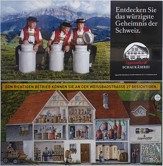 CH_190714 Sveitsi_0392 Appenzellin meijerituotemainos talon sein