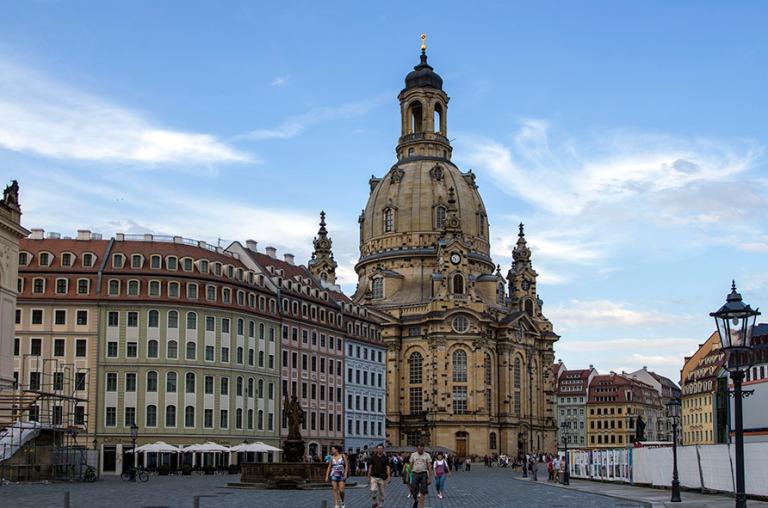DE_110717 282 Saksa Dresdenin uudelleen rakennettu Frauenkirche