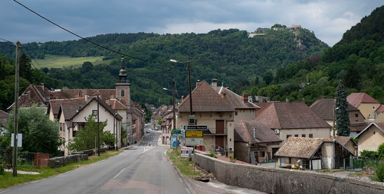 FR_190712 Ranska_0081 Salins les Bains´n keskustaa Franche-Comt