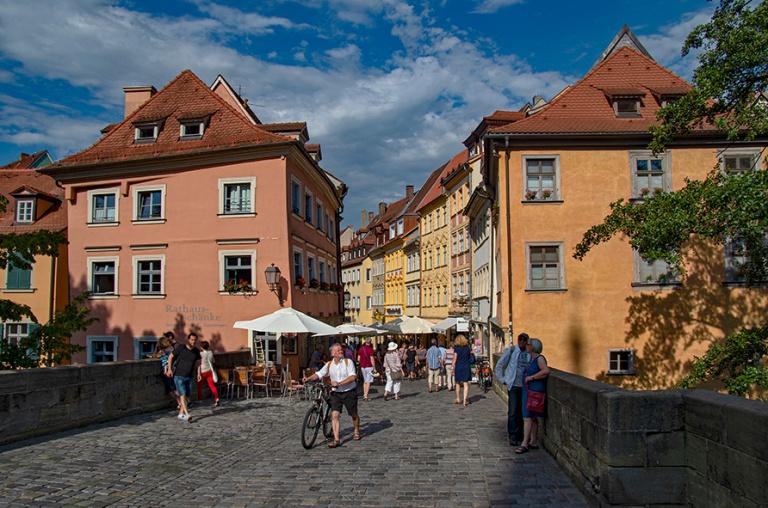 DE_130817 Saksa_0206 Bambergin vanhan kaupungin Obere Brücke Baijerissa