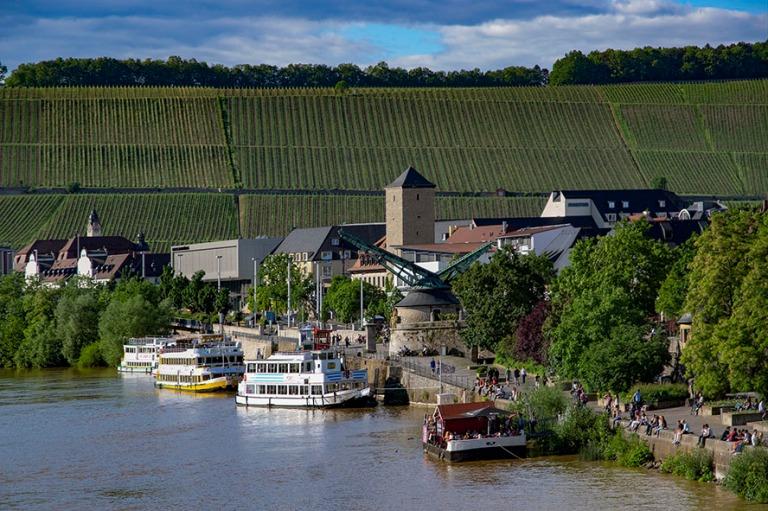 DE_160531 Saksa_0202 Frankenin viiniviljelmiä  Würzburgissa Ba
