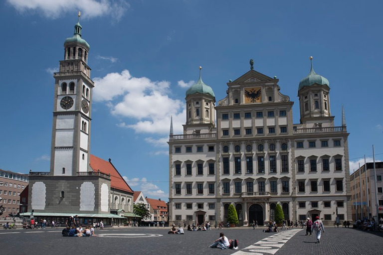 DE_190716 Saksa_0084 Augsburgin Perlachturm ja raatihuone Baijer