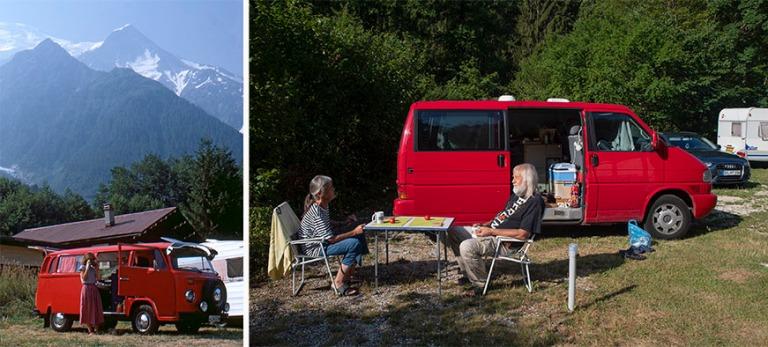 FR017638 Ranska Alppien L´Aiguille du Midi Les Bossonsin Campin