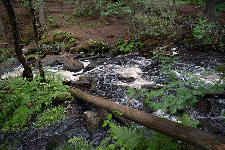 FI_200704 Suomi_0137 Korkeakosken vesiputous Kuopion Maaningassa