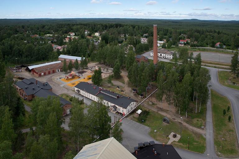 FI_200705 Suomi_0142 Outokummun kaivosmuseoaluetta kaivostornist